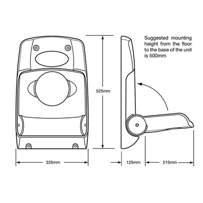 Magrini wall mounted stay safe baby seat sports for Safe room dimensions