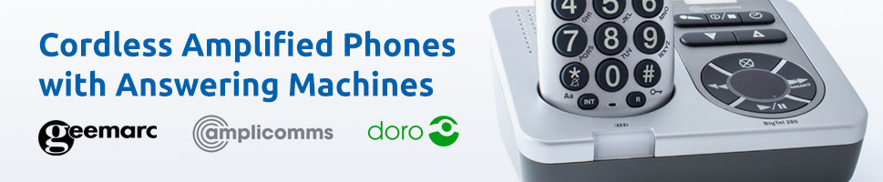 See Our Full Range of Cordless Amplified Telephones with Answering Machines