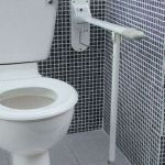 Toilet Drop Down Grab Rails With Support Leg