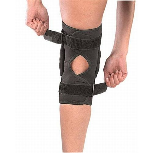how to put on a hinged knee brace properly