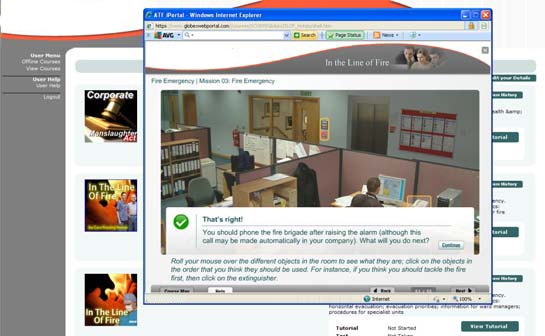 Online Health and Safety Training Screenshot
