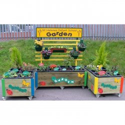 24 Planter Garden Flower Bed Planter Trough With Hanging