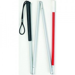 Four Section Folding Guide Stick For The Deafblind