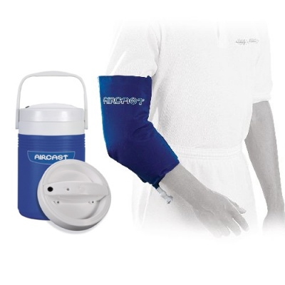 Aircast cryo elbow cuff and automatic cold therapy ic for Cryo cuff ic motorized cooler