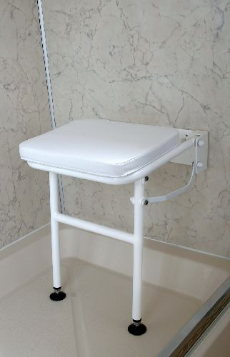 small fold down shower seat with legs sports supports mobility