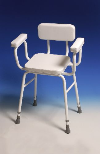 Perching Stool With Padded Arms Amp Backrest Sports