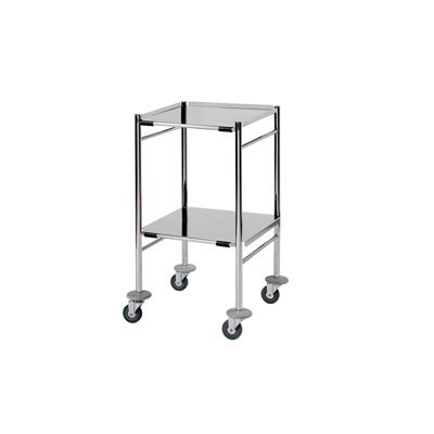 small shelf sunflower medical surgical trolley with 2 removable reversible
