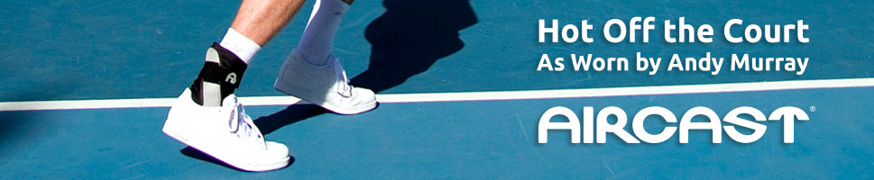 The Aircast A60 Ankle Brace As Worn By World Number One Andy Murray