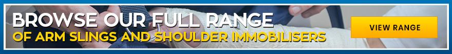 Parcourez notre gamme complète d'écharpes de bras et d'immobilisateurs d'épaule