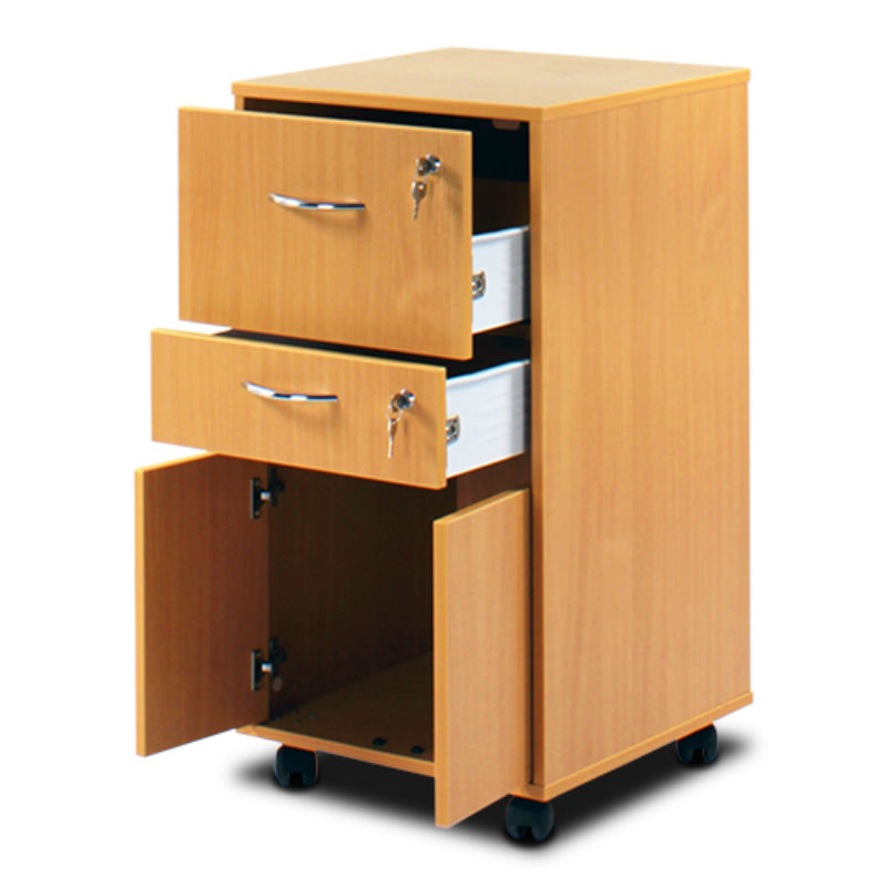 bristol maid beech bedside cabinet (cupboard and two lockable