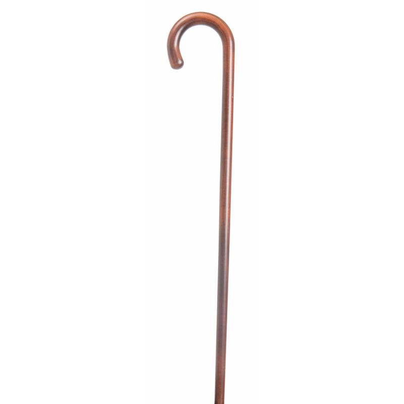Cherry Wood Crook Walking Stick :: Sports Supports