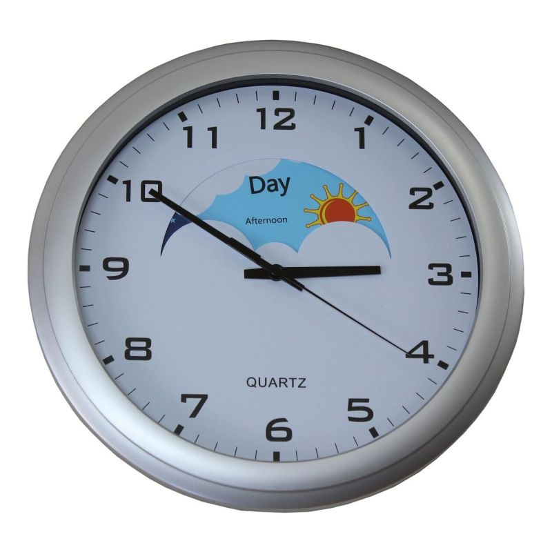 day and night dementia clock sports supports mobility. Black Bedroom Furniture Sets. Home Design Ideas