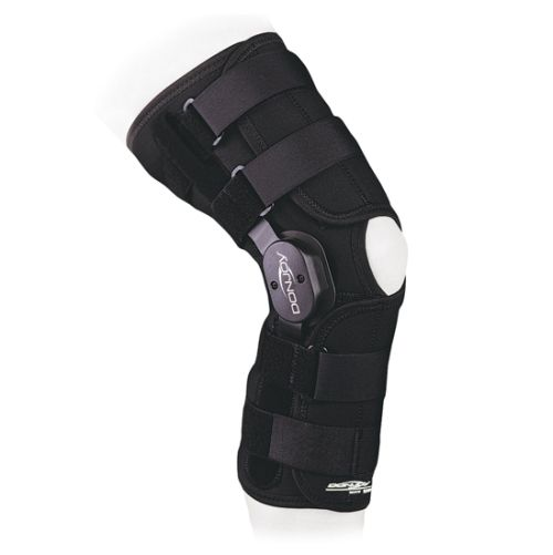how to put on donjoy knee immobilizer on