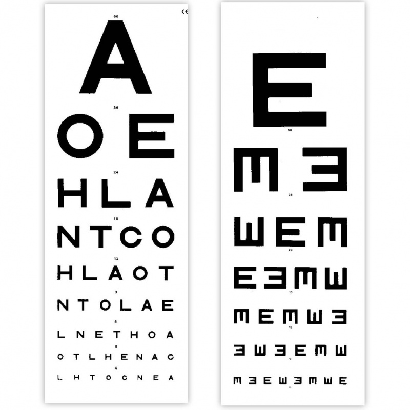 distance eye test chart: Eye test chart 6 metre distance tvh sports supports mobility