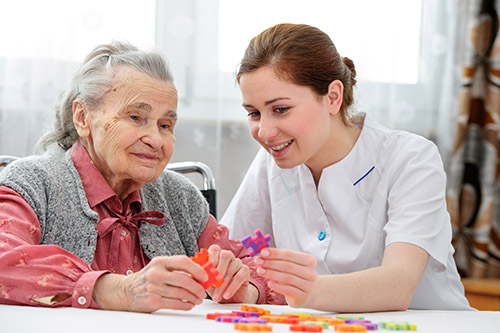 Keeping the brain active with puzzles and creative activities can help prevent dementia from developing further