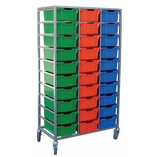 Mobile 30 Tray Storage Trolley