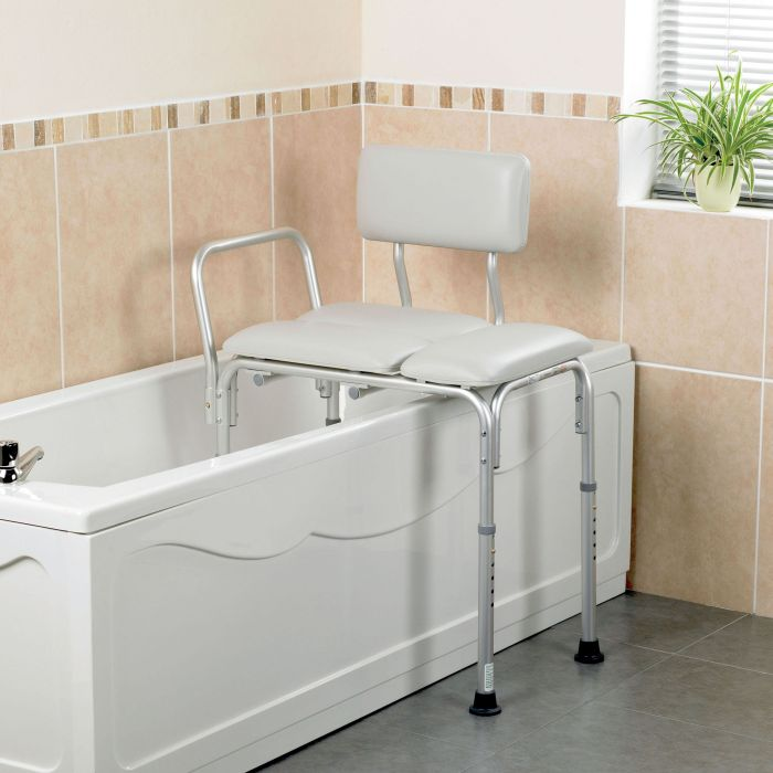 Homecraft Padded Bath Transfer Bench Sports Supports Mobility Healthcare Products: transfer bath bench
