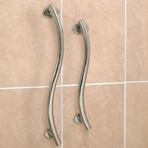 Shower Grab Bars Uk polished stainless steel curved grab rail :: sports supports
