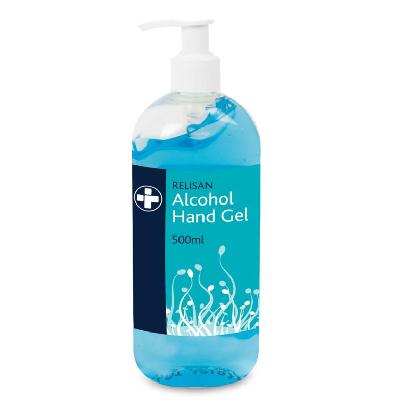 Désinfectant pour les mains à l'alcool Relisan (500 ml)