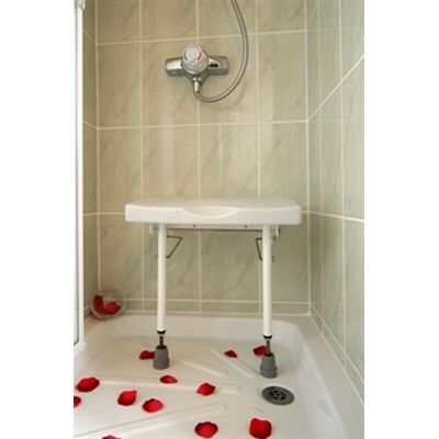 drop down shower seat with adjustable legs