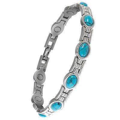 Sabona Lady Turquoise Magnetic Bracelet Sports Supports