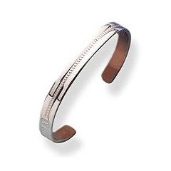 Sabona Windsor Silver Plated Copper Bracelet (9mm Width)