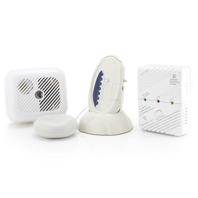 silent alert sa3000 signwave hard of hearing smoke and carbon monoxide alarm pack sports. Black Bedroom Furniture Sets. Home Design Ideas