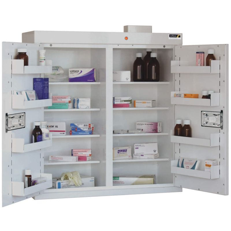 Sunflower Medical Double Door Medicine Cabinet 91 X 80 X 30cm With