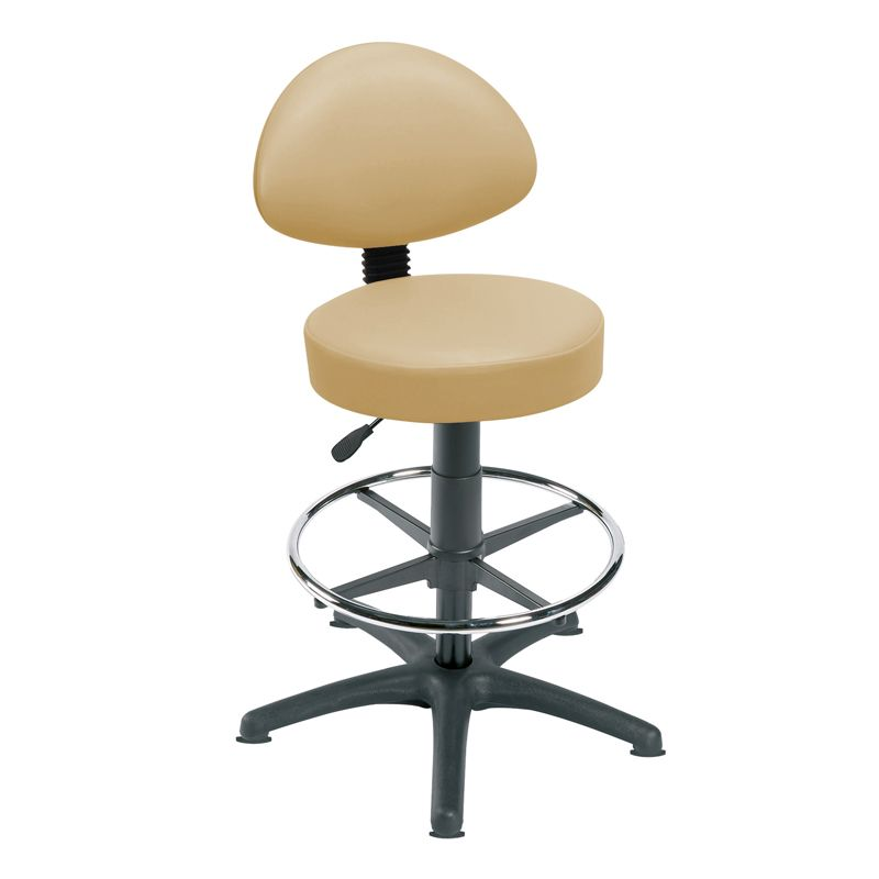 Sunflower Medical Beige Gas Lift Stool With Back Rest