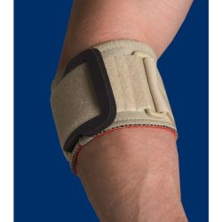 how to wear futuro elbow support with pressure pads