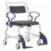 Extra Wide Wheeled Shower Commode Chair