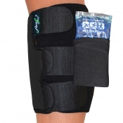 4Dflexisport® Black Calf Support with Ice and Heat Pack