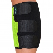 4Dflexisport® Black and Lime Calf Support with Ice and Heat Pack