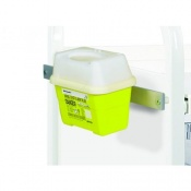 One-Litre Sharps Bin Holder for Sunflower Medical Vista Storage Trolleys