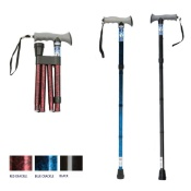 Drive Medical - Folding Walking Stick with Gel Grip Handle