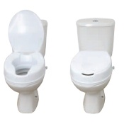 Drive Medical - Raised Toilet Seat with Lid