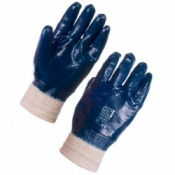 Supertouch Nitrile Heavyweight Full Dip Knit Wrist Gloves (120 pairs)