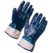 Supertouch Nitrile Heavyweight Full Dip Safety Cuff Gloves (120 pairs)