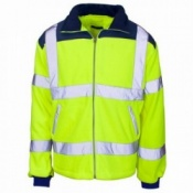 Supertouch Hi-Vis Micro Fleece Jacket with Rain Patch (10 Jackets)