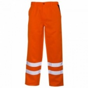 Supertouch Hi-Vis Polycotton Trousers with Ankle Band - Orange (20 Trousers)