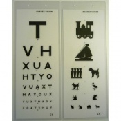3M Laminated Eye Test Type TVH and Child Pictures