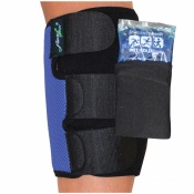 4Dflexisport® Black and Blue Calf Support with Ice and Heat Pack