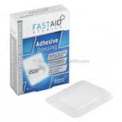 Fast Aid Sterile Adhesive Dressings 6.5 x 8cm (Pack of Five)