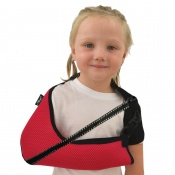 4Dflexisport® Raspberry Children's Deluxe Anti-Neckache Arm Sling