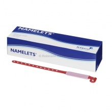 Namelets Red Write-On ID Bracelets (Pack of 100)