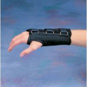 Standard D-Ring Carpal Tunnel Syndrome Wrist Brace Support - Black