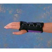 Standard D-Ring Carpal Tunnel Syndrome Wrist Brace Support - Purple