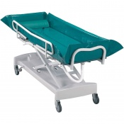 Harvest Adjustable Hydraulic Bed Bath Trolley