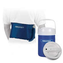 Aircast back hip and rib cryo cuff with cryo cooler saver for Aircast cryo cuff ic motorized and cuffs