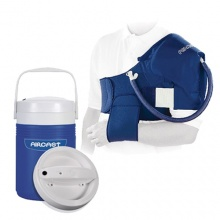 Aircast Cryo Shoulder Cuff with Automatic Cold Therapy IC Cooler Unit Saver Pack